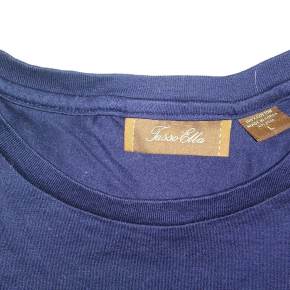 Tasso Elba Other - SUPERB QUALITY TASSO ELBA NAVY BLUE T-SHIRT